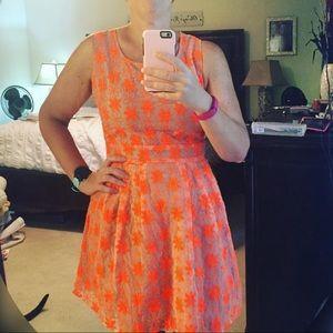 Happy orange flower dress